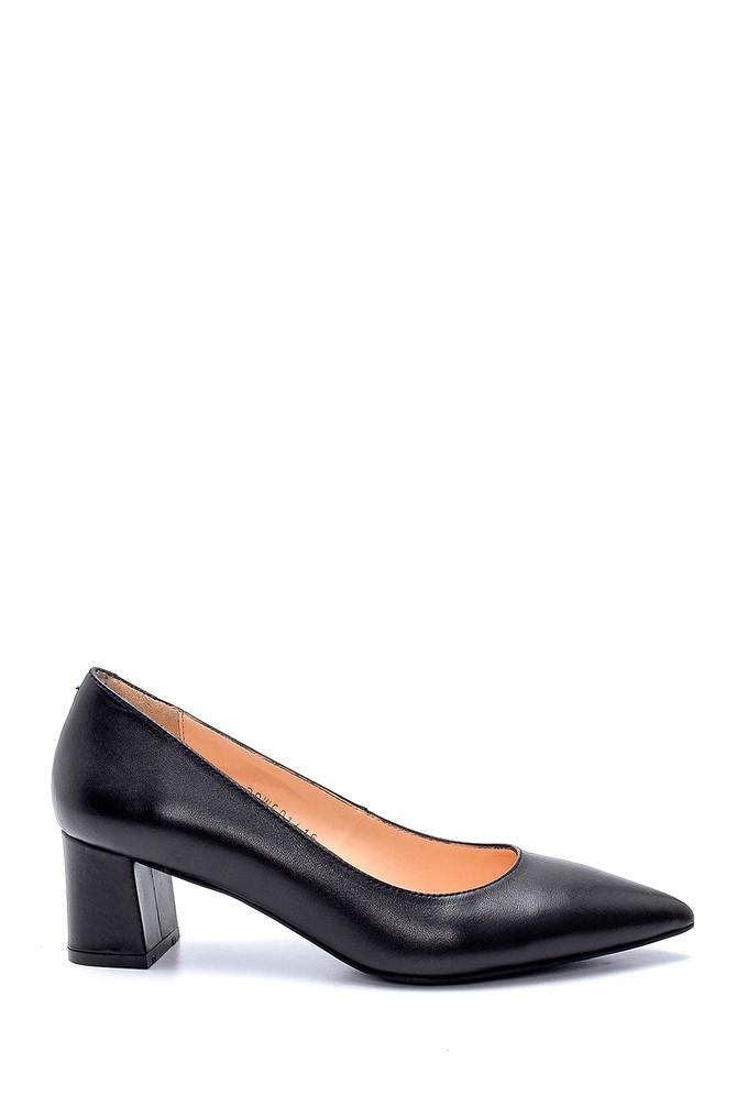 Siyah Kadın Deri Topuklu Ayakkabı 5638234840