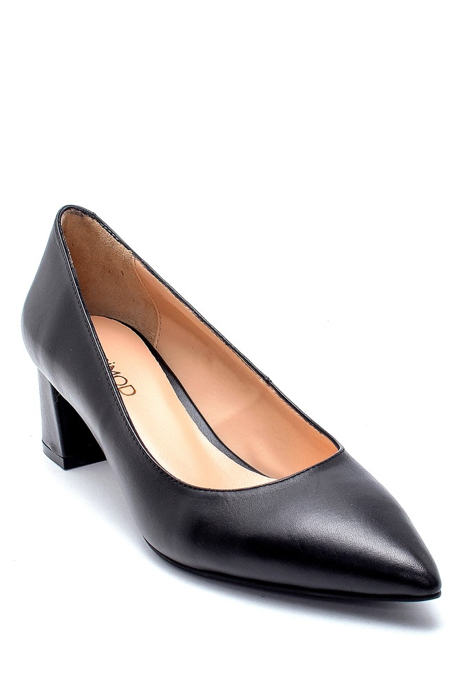 5638234840 Kadın Deri Topuklu Ayakkabı