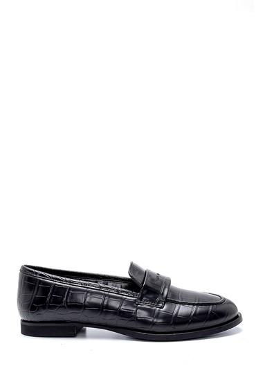 Siyah Kadın Kroko Desenli Ayakkabı 5638257157