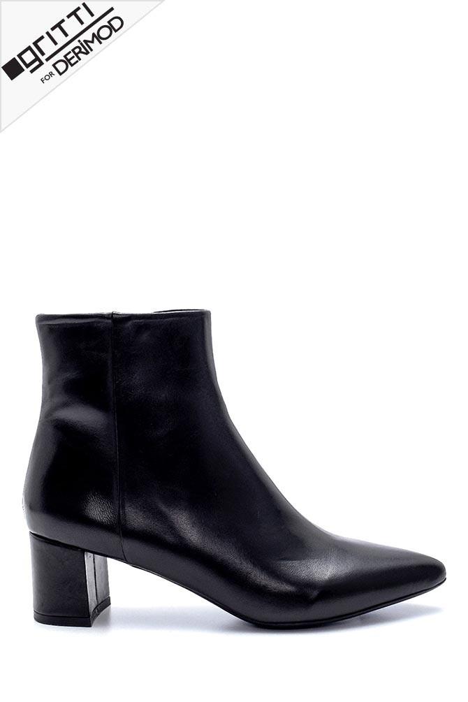 Siyah Kadın Gritti for Derimod Topuklu Bot 5638218067
