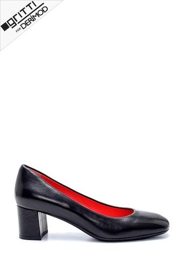 Siyah Kadın Gritti for Derimod Topuklu Ayakkabı 5638234327