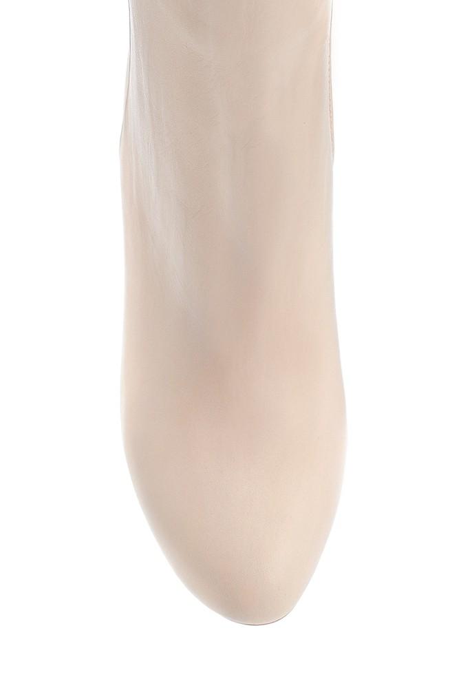 5638202909 Kadın Deri Topuklu Bot
