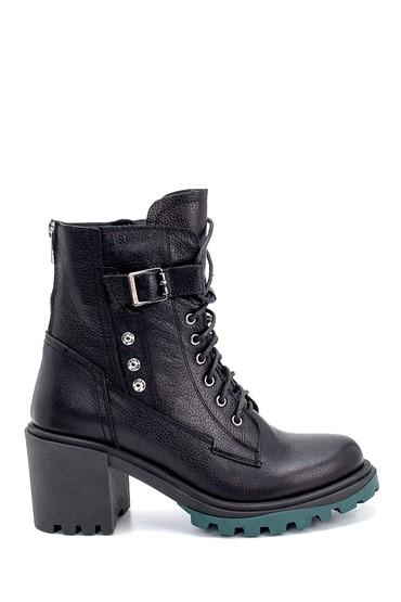 Siyah Kadın Deri Topuklu Bot 5638206025