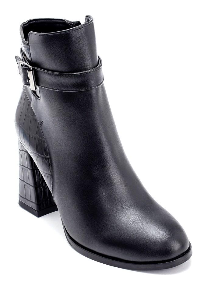 5638209136 Kadın Kroko Detaylı Topuklu Bot