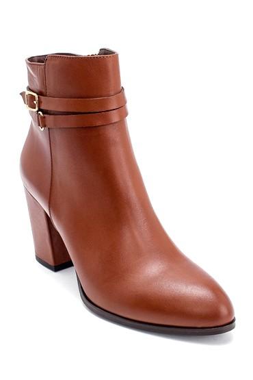 Kahverengi Kadın Deri Topuklu Bot 5638213542