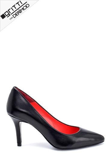 Siyah Kadın Gritti for Derimod Topuklu Ayakkabı 5638218047