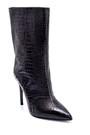 5638206146 Kadın Deri Kroko Desenli Topuklu Bot