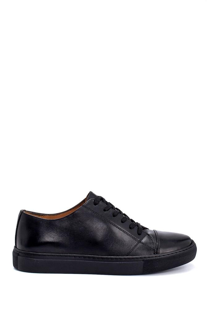 Siyah Erkek Deri Sneaker 5638248012