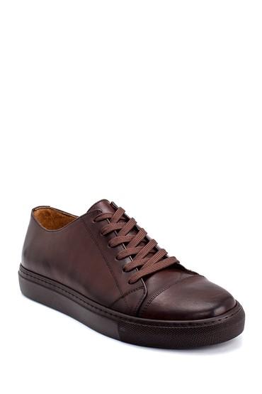 Kahverengi Erkek Deri Sneaker 5638247981