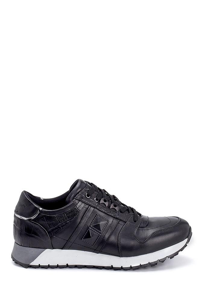 Siyah Erkek Deri Sneaker 5638248154