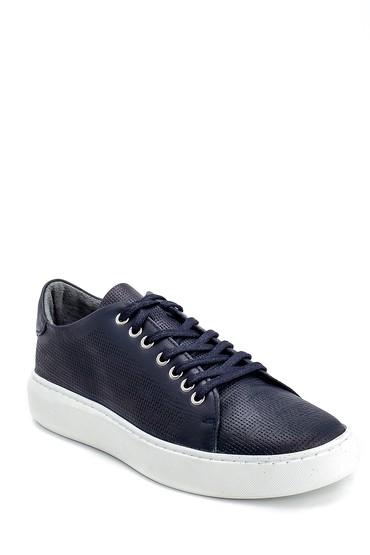 Lacivert Erkek Deri Sneaker 5638254584