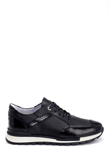Siyah Erkek Deri Sneaker 5638254604