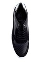 5638254732 Erkek Süet Detaylı Deri Sneaker