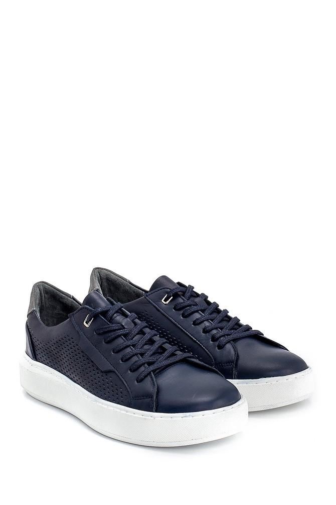 5638254797 Erkek Deri Baskılı Sneaker