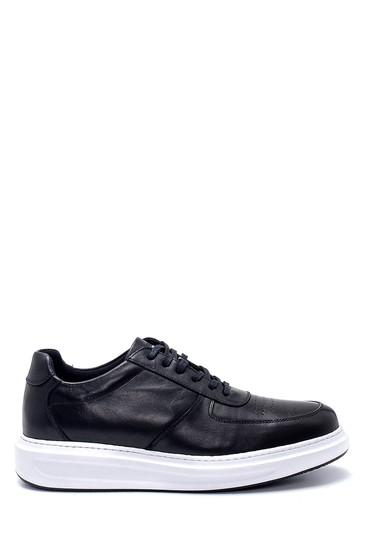 Siyah Erkek Deri Sneaker 5638247957