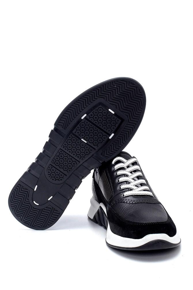 5638252394 Erkek Süet Detaylı Deri Sneaker