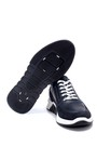 5638252384 Erkek Süet Detaylı Deri Sneaker