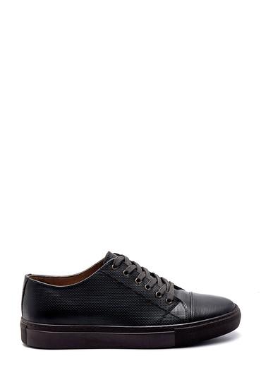 Yeşil Erkek Deri Baskılı Sneaker 5638247579