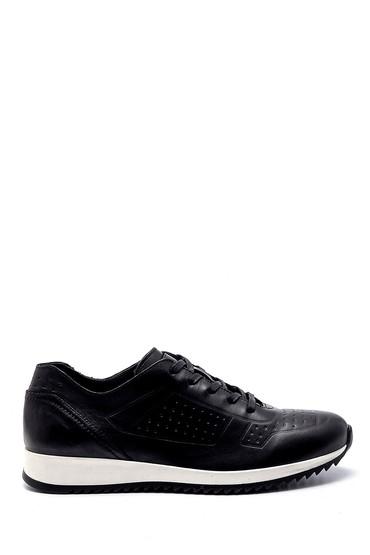 Siyah Erkek Deri Sneaker 5638248136