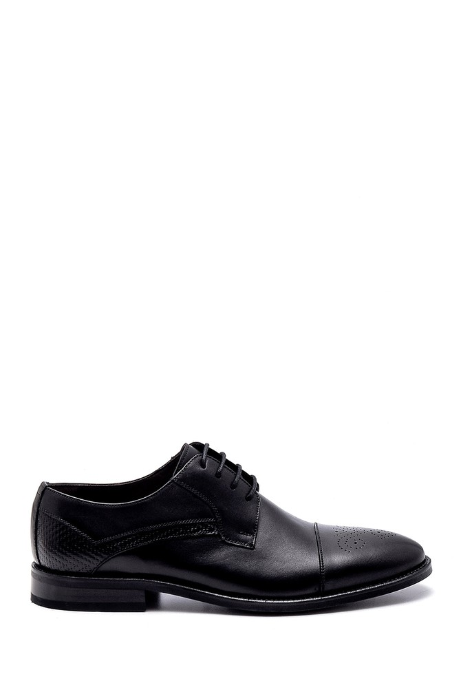 Siyah Erkek Deri Klasik Ayakkabı 5638250835