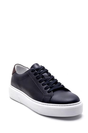 Lacivert Erkek Deri Sneaker 5638253960