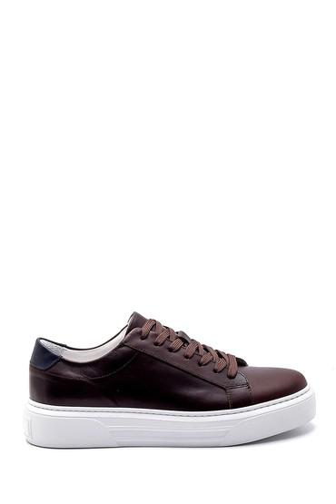 Kahverengi Erkek Deri Sneaker 5638253959