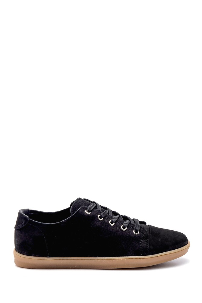 Siyah Erkek Nubuk Sneaker 5638255796