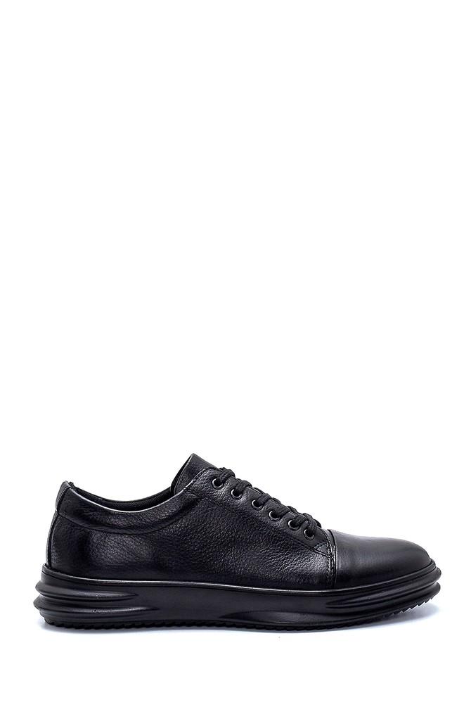 Siyah Erkek Deri Sneaker 5638236883