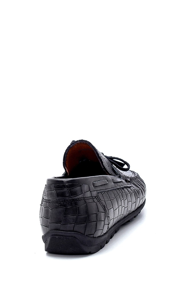 5638251324 Erkek Deri Kroko Desenli Loafer