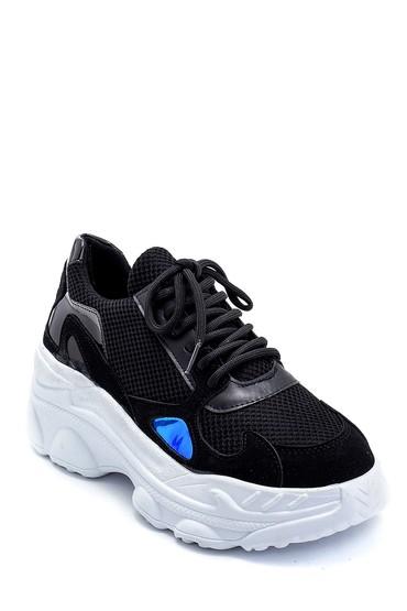 Siyah Kadın Yüksek Tabanlı Sneaker 5638239605