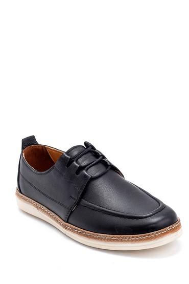Siyah Erkek Deri Casual Ayakkabı 5638273233