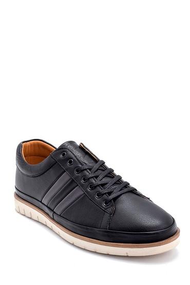 Siyah Erkek Deri Sneaker 5638273320