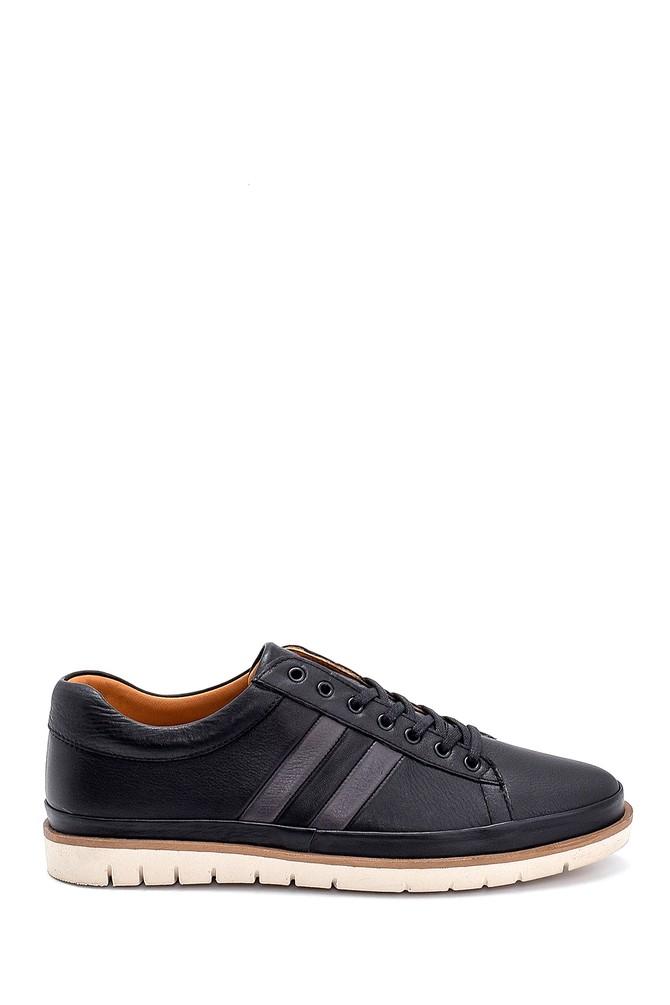 Siyah Erkek Deri Sneaker 5638273349