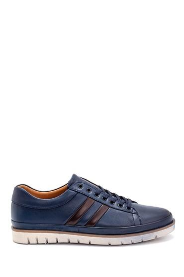 Lacivert Erkek Deri Sneaker 5638273319