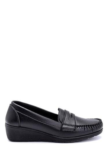 Siyah Kadın Dolgu Topuklu Loafer 5638280531