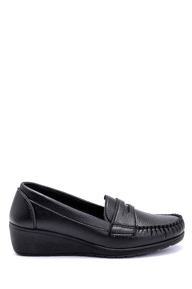 Siyah Kadın Dolgu Topuklu Loafer 5638280539