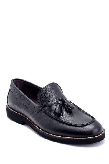 Siyah Erkek Deri Püskül Detaylı Loafer 5638251031