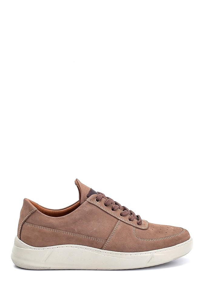 Kahverengi Erkek Nubuk Deri Sneaker 5638251611