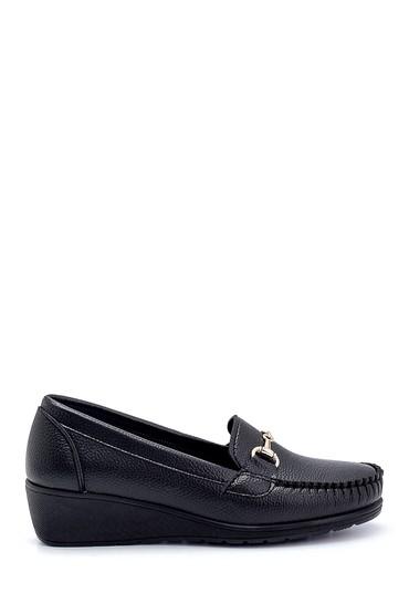 Siyah Kadın Dolgu Topuklu Loafer 5638280510