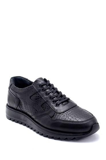 Siyah Erkek Deri Sneaker 5638236718