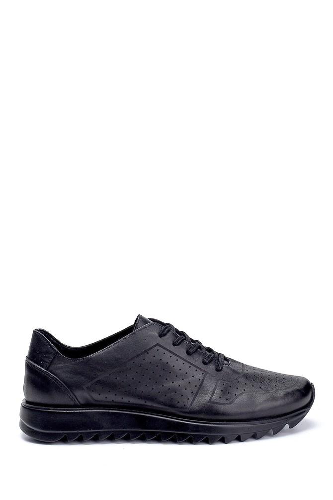 Siyah Erkek Deri Sneaker 5638237745