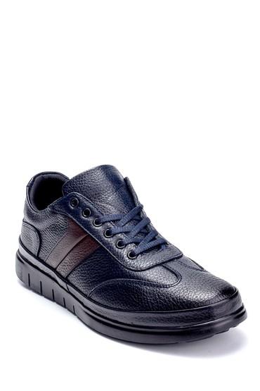 Siyah Erkek Deri Sneaker 5638273100