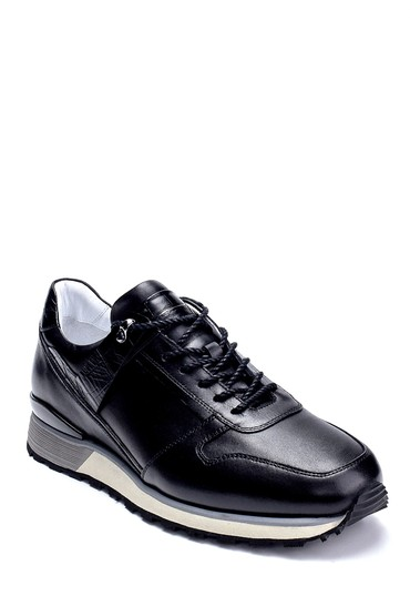 Siyah Erkek Deri Sneaker 5638275793