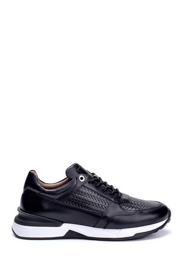 Siyah Erkek Deri Sneaker 5638275877