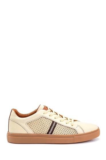 Bej Erkek Deri Sneaker 5638245783