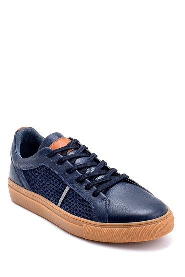 Lacivert Erkek Deri Sneaker 5638245785