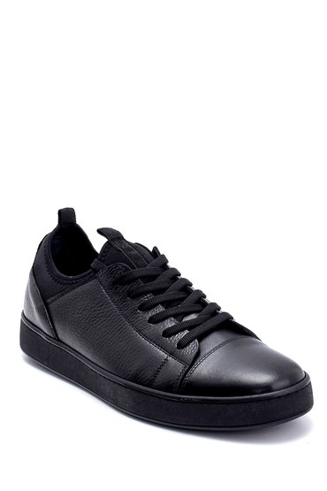 Siyah Erkek Deri Sneaker 5638245822