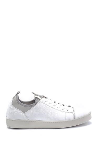 Beyaz Erkek Deri Sneaker 5638245816