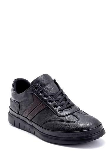 Siyah Erkek Deri Sneaker 5638273102