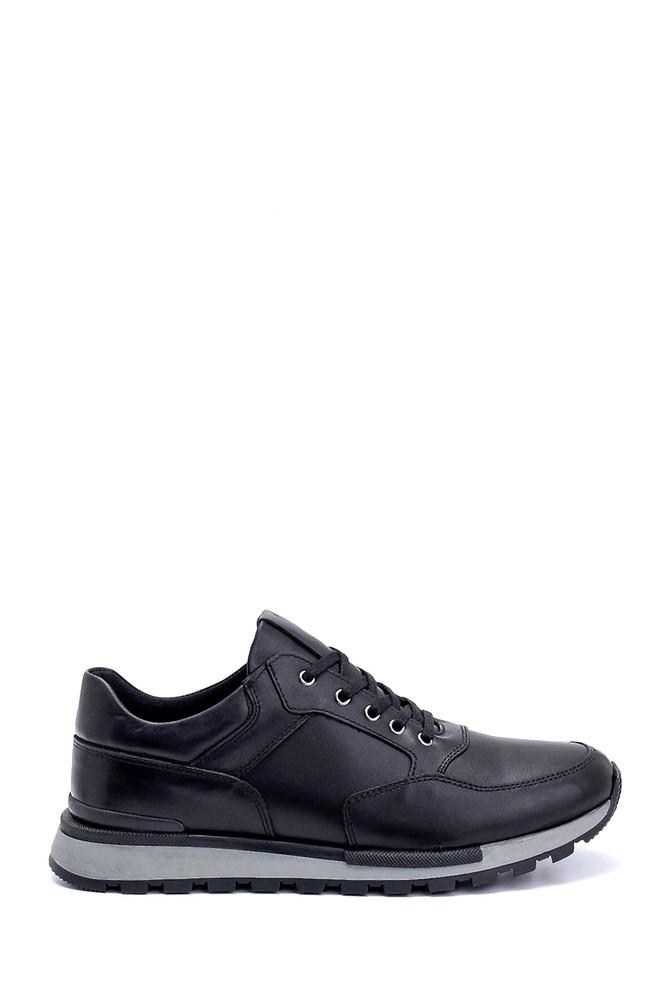 Siyah Erkek Deri Sneaker 5638273170